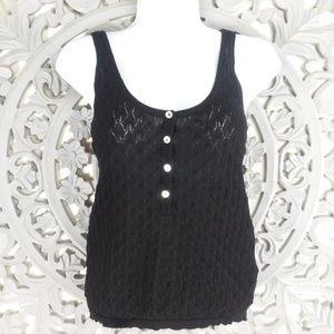 Knit Tank Lightweight Black Zara
